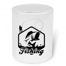 Fishing (Big fish)  Moneybox / Spardose mit Aufdruck