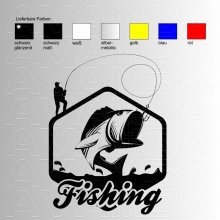 Fishing (big fish)  Angelaufkleber / Angelsticker