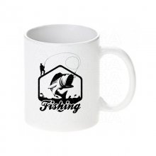 Fishing big fish Tasse / Keramikbecher m. Aufdruck