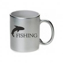 Fishing jumping fish Tasse / Keramikbecher m. Aufdruck