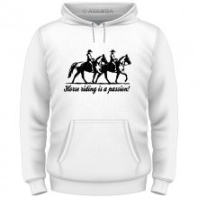 Horseriding is passion T-Shirt/Kapuzenpullover (Hoodie)