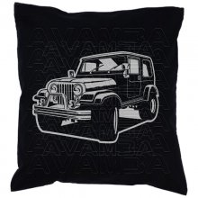 Jeep CJ 7 Car-Art-Kissen / Car-Art-Pillow