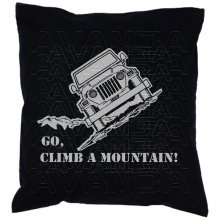 Jeep Go, climb a mountain  Car-Art-Kissen / Car-Art-Pillow