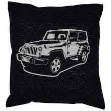 Jeep Wrangler Car-Art-Kissen / Car-Art-Pillow