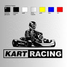 Kartracing Aufkleber / Sticker