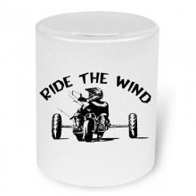 Kitebuggy  Moneybox Ride the wind / Spardose mit Aufdruck