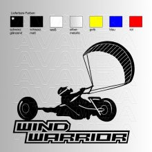 Kitebuggy Wind Warrior  Aufkleber / Sticker