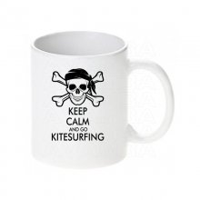 Kitesurfing Keep calm... / Keramikbecher m. Aufdruck
