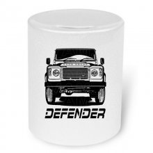 Land Rover Defender Frontview   Moneybox / Spardose mit...