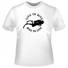 Live to Dive Taucher T-Shirt/Kapuzenpullover (Hoodie)