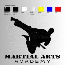 Martial Arts Academy Aufkleber / Sticker