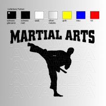 Martial Arts Aufkleber / Sticker