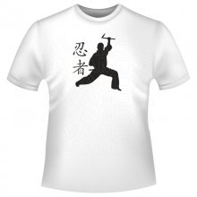 Martial Arts Fighter mit Waffe T-Shirt/Kapuzenpullover...