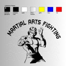 Martial Arts Fighting Aufkleber / Sticker