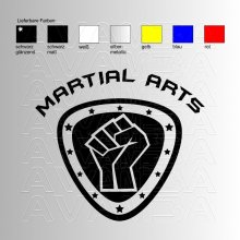 Martial Arts Logo Aufkleber / Sticker
