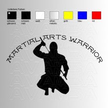 Martial Arts Warrior Aufkleber / Sticker