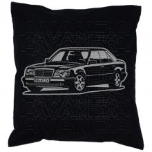 Mercedes Benz W124 Limousine Version 3  Car-Art-Kissen /...