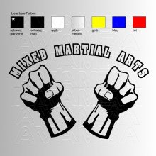 Mixed Martial Arts MMA Logo Aufkleber / Sticker