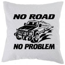 OFFROAD No road - no problem  Car-Art-Kissen /...