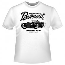 Burnout Car Vintage / Retro T-Shirt/Kapuzenpullover (Hoodie)