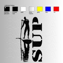 SUP Man Stand up paddling Aufkleber / Sticker