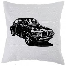 Saab 96 (1960-1980) Car-Art-Kissen / Car-Art-Pillow