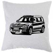 Skoda Yeti Car-Art-Kissen / Car-Art-Pillow