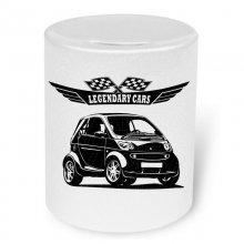 Smart Fortwo City Coupè (1998-) Moneybox / Spardose mit...