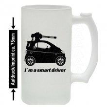 Smart Fortwo Machinegun  Bierkrug / Beermug m. Aufdruck