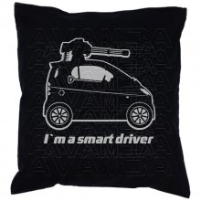 Smart Fortwo Machinegun Car-Art-Kissen / Car-Art-Pillow