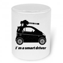 Smart Fortwo Machinegun  Moneybox / Spardose mit Aufdruck