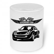 Smart Roadster (2003-2005) Moneybox / Spardose mit Aufdruck