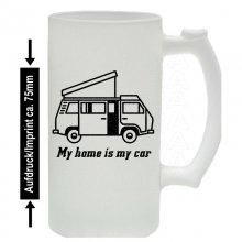T3 Bus Westfalia Camper My home is my car Bierkrug /...