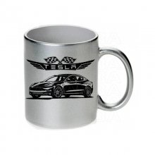 TESLA Model 3 Tasse / Keramikbecher m. Aufdruck