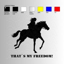 Thats my freedom  Reitaufkleber / Sticker
