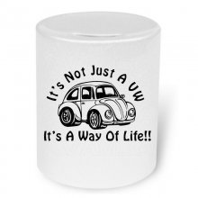 VW its a Way Of Life! Moneybox / Spardose mit Aufdruck