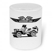 Willys Jeep MB Moneybox / Spardose mit Aufdruck