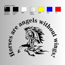 Horses are angels without wings  Aufkleber / Sticker