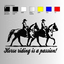 Horse riding is a passion  Aufkleber / Sticker