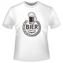 Bier - I love it! T-Shirt/Kapuzensweat (Hoodie)