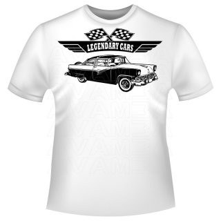 Ford Fairlane Victoria 1955 T-Shirt / Kapuzenpullover (Hoodie)