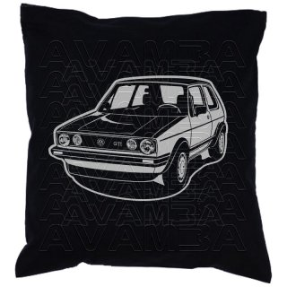 GOLF 1  GTI  Car-Art-Kissen / Car-Art-Pillow