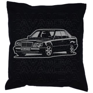 Mercedes Benz W124 Limousine Version 3  Car-Art-Kissen / Car-Art-Pillow