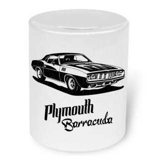 Plymouth Barracuda (Version2)  Moneybox / Spardose mit Aufdruck