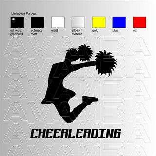 Cheerleading (2) Aufkleber Sticker