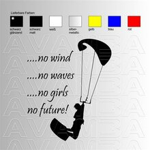 Kiteboarding, Kitesurfing; No girls.. Aufkleber Sticker