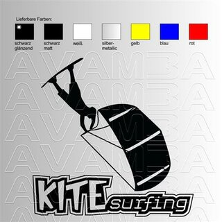 Kiteboarding, Kitesurfing; Turn Aufkleber Sticker