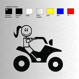 Quad / ATV Girl Aufkleber Sticker