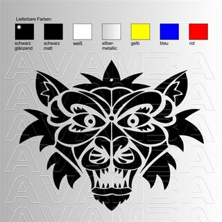 Aufkleber Tiger angry black