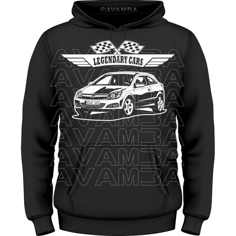 Herzschlag Opel Astra H Caravan Hoodie Kapuzenpullover Motiv A08